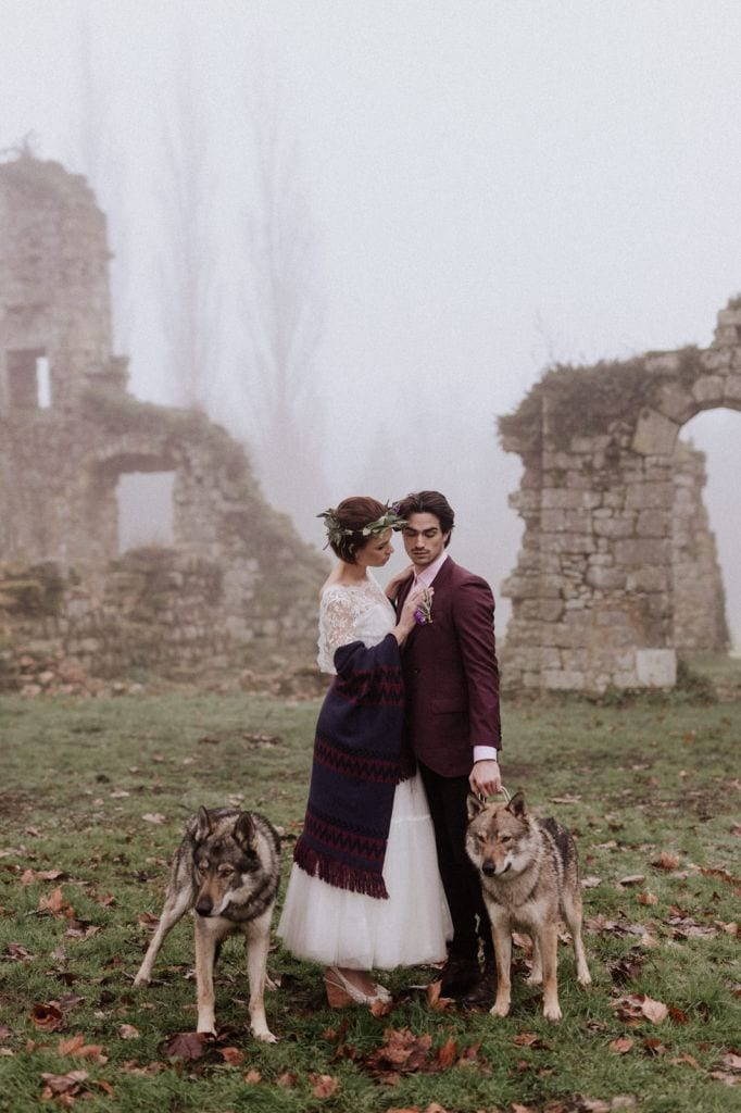 Castle Ruins Wedding Inspiration at Chateau Du Vivier, France | Nathalie & Arthur