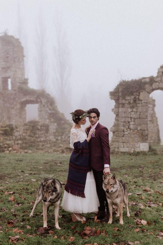 Castle Ruins Wedding Inspiration at Chateau Du Vivier, France | Nathalie & Arthur