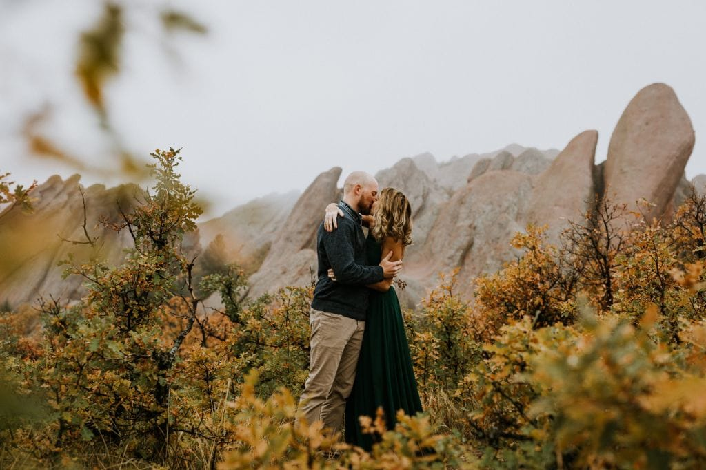fall engagement session rocky mountain national park colorado