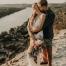 boho mount bonnell austin texas sunset mountain elopement wedding