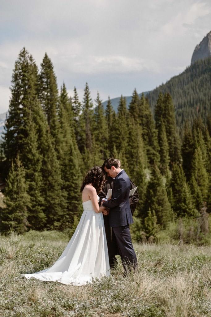 crested butte colorado mountain elopement wedding