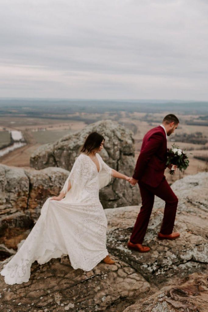 Breathtaking Elopement Inspiration Conway County, AR | Tara & Bernard