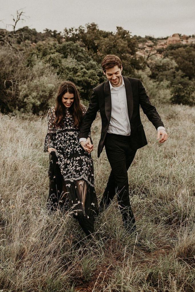 Charming Outdoor Engagement Session in  Fredericksburg, TX | Megan & Josh