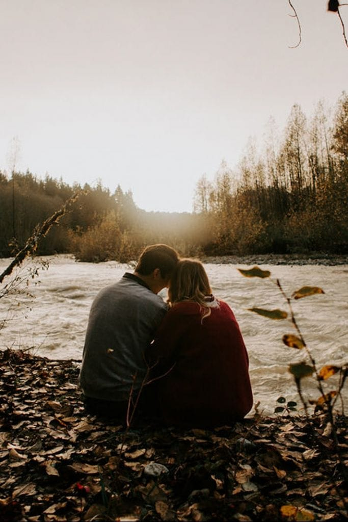 Intimate, Sunset Engagement Session in Carnation, WA   Kate + Jan