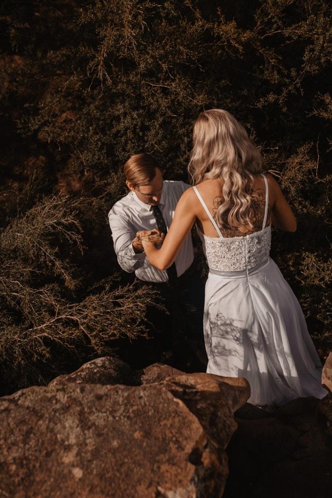 blue mountains australia adventurous elopement wedding