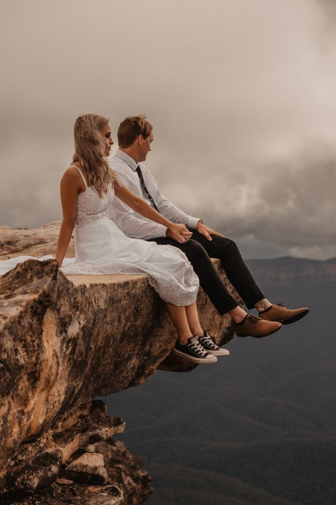 blue mountains australia adventurous elopement wedding