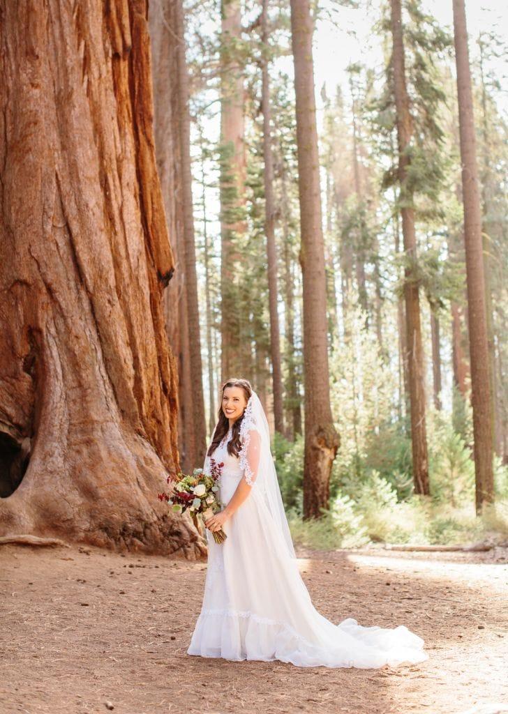 bridal california elopement