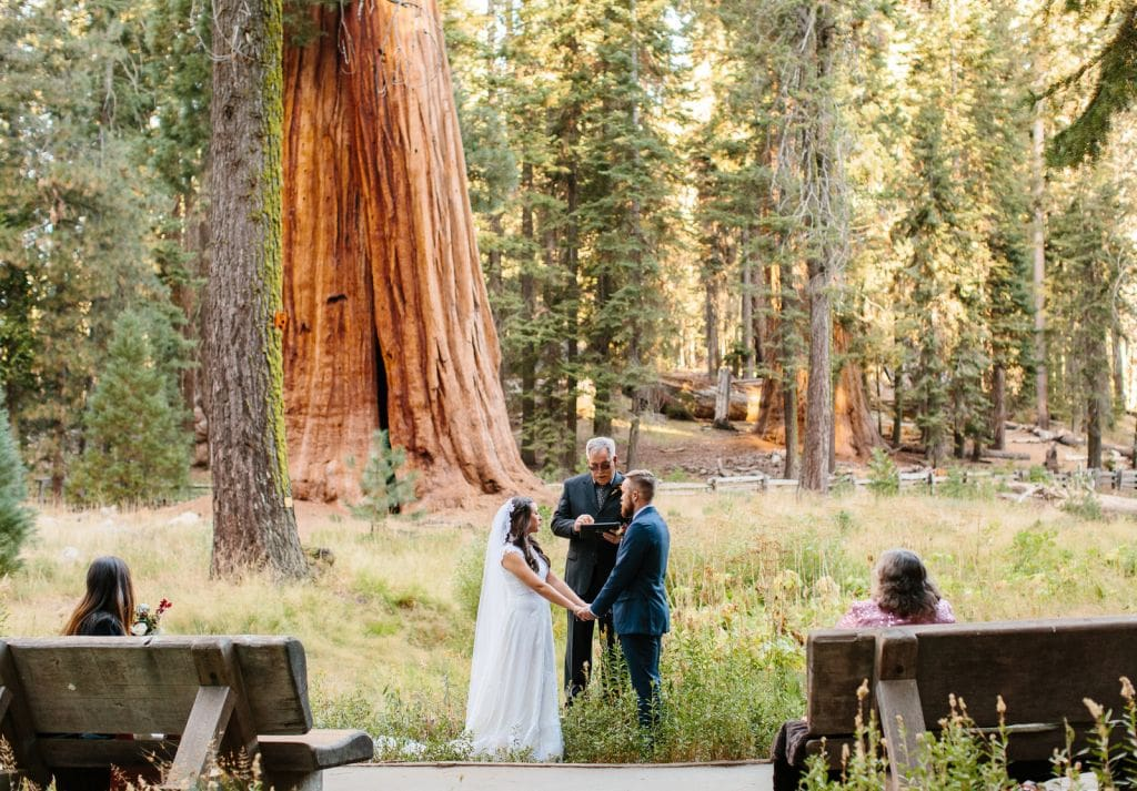 ceremony at sequoia national park