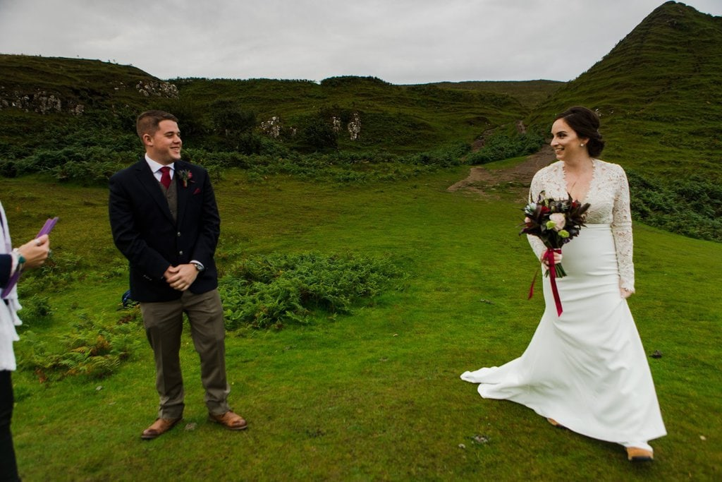 first look moment in Scotland