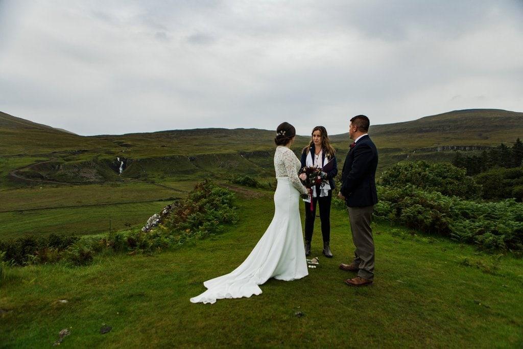Isle of Skye elopement ceremony