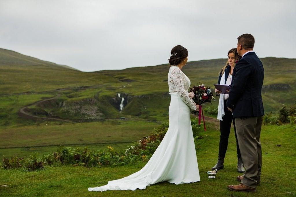 Scotland elopement ceremony