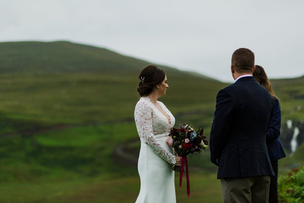 couple during elopement ceremony
