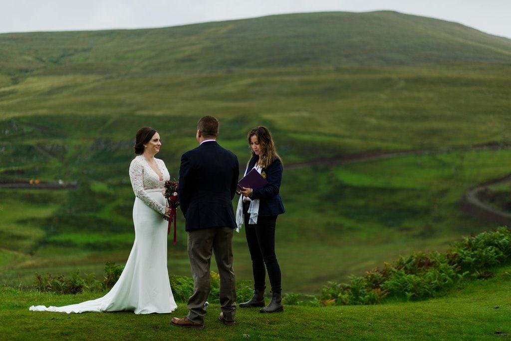 Isle of Skye wedding ceremony