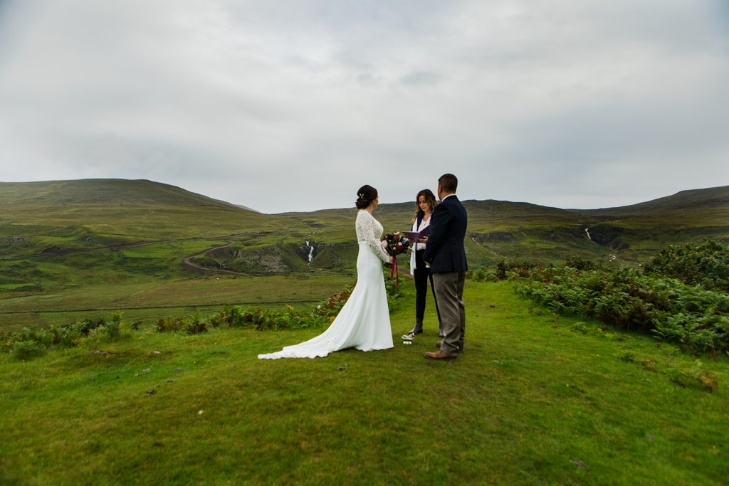 vows during elopement ceremony