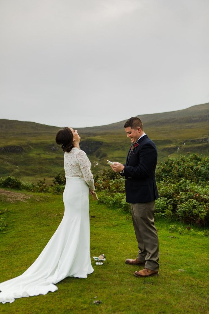 emotional vows from groom