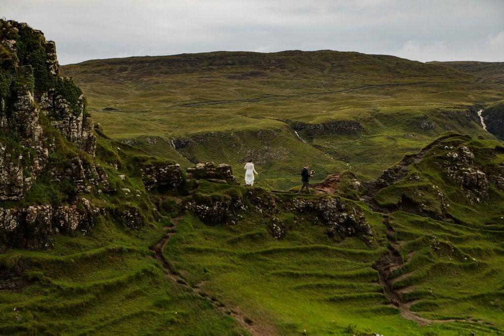 couple explores Scotland