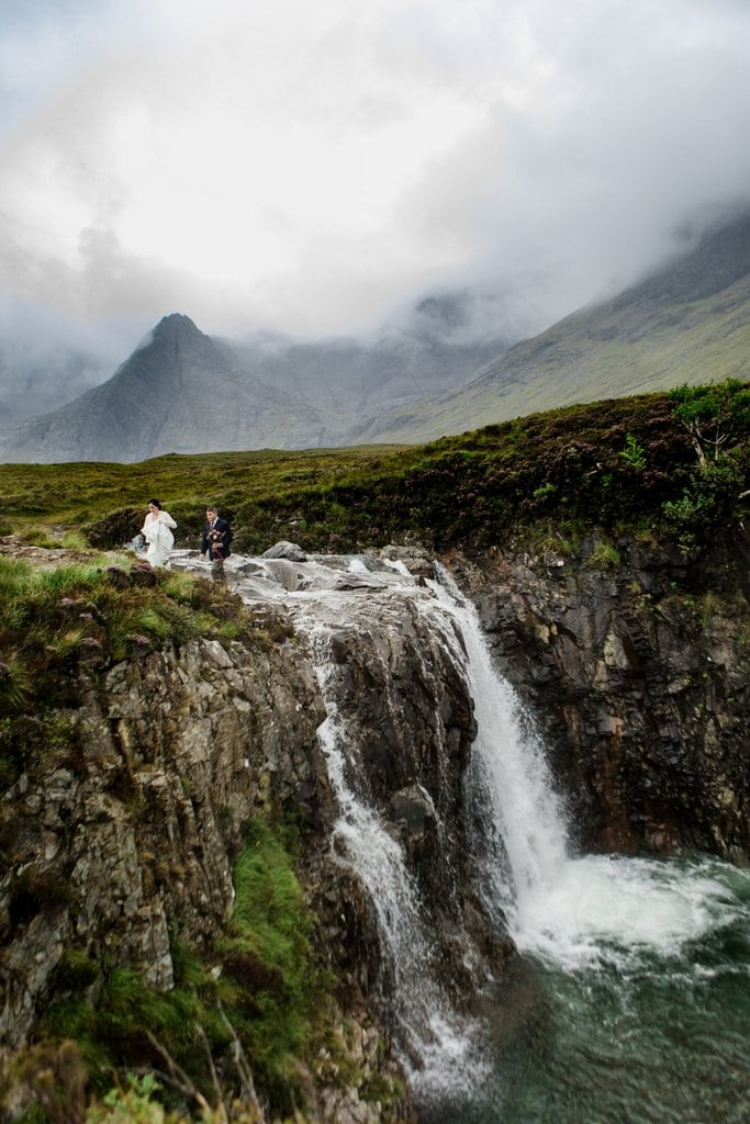 waterfall elopement location
