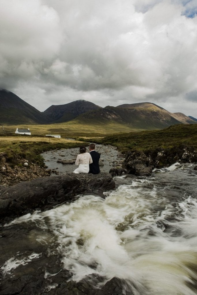 fairy glen fairy pools sligachan bridge isle of skye scotland elopement wedding