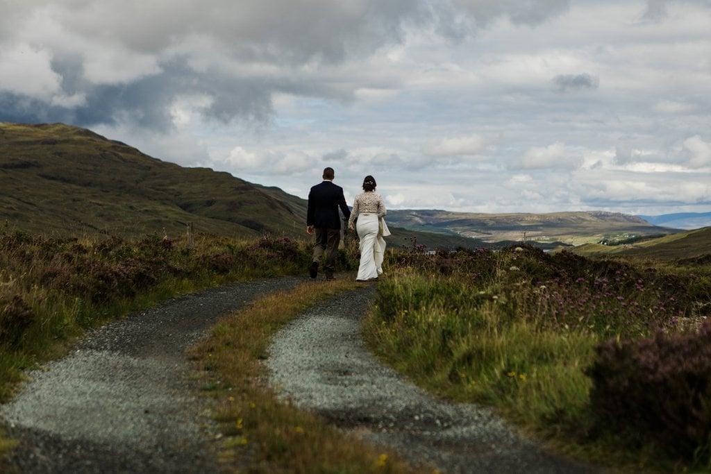 couple walking through Scotland
