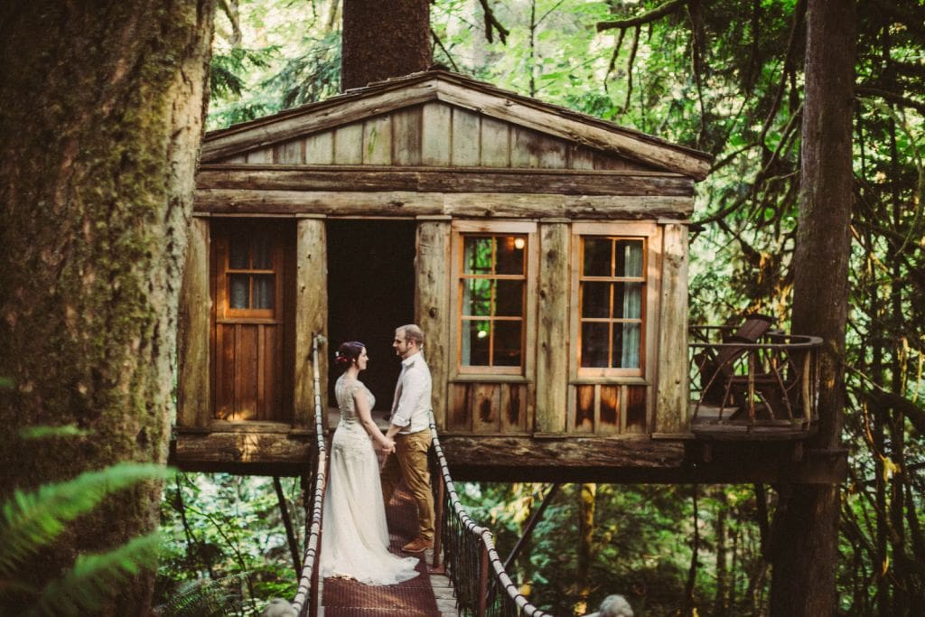 treehouse point seattle pnw intimate elopement wedding