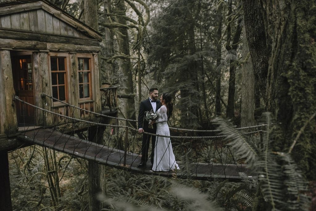 treehouse wedding elopement
