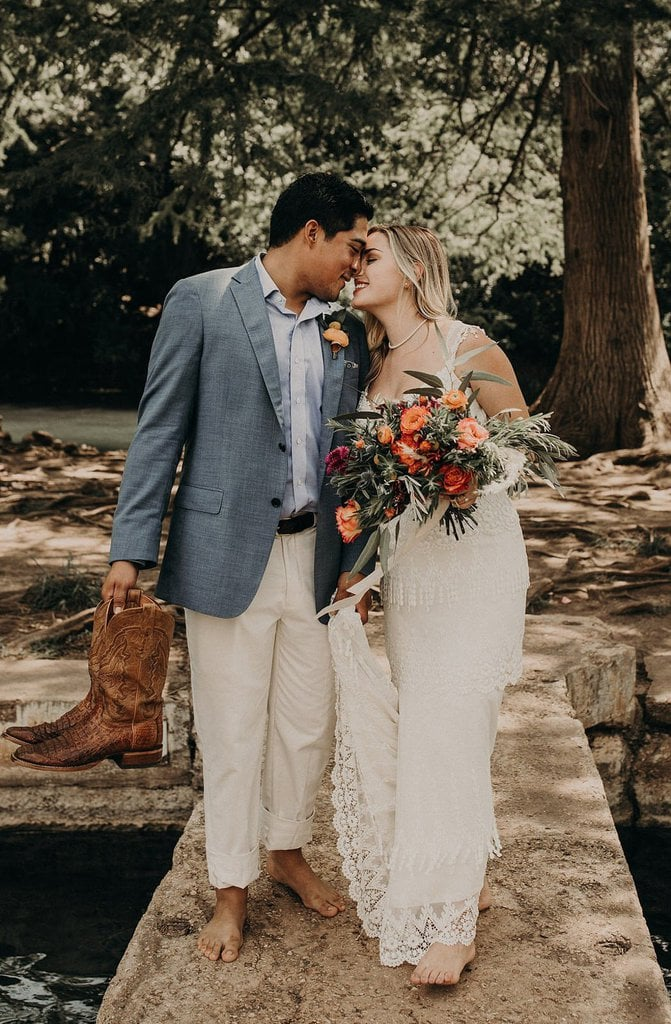 Adorable Riverside Intimate Wedding in Austin, TX | Maggie & Justin
