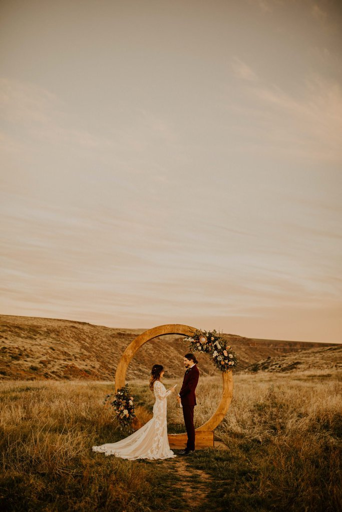 Bohemian Styled Elopement at Sunset Point in Northern Arizona