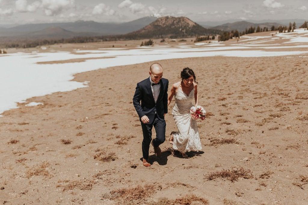 crater lake national park oregon adventure elopement wedding