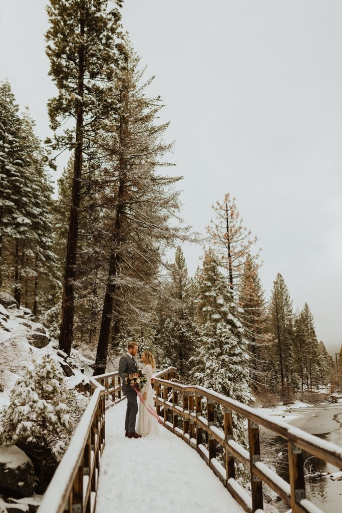 hume lake california sequoia national forest winter elopement wedding