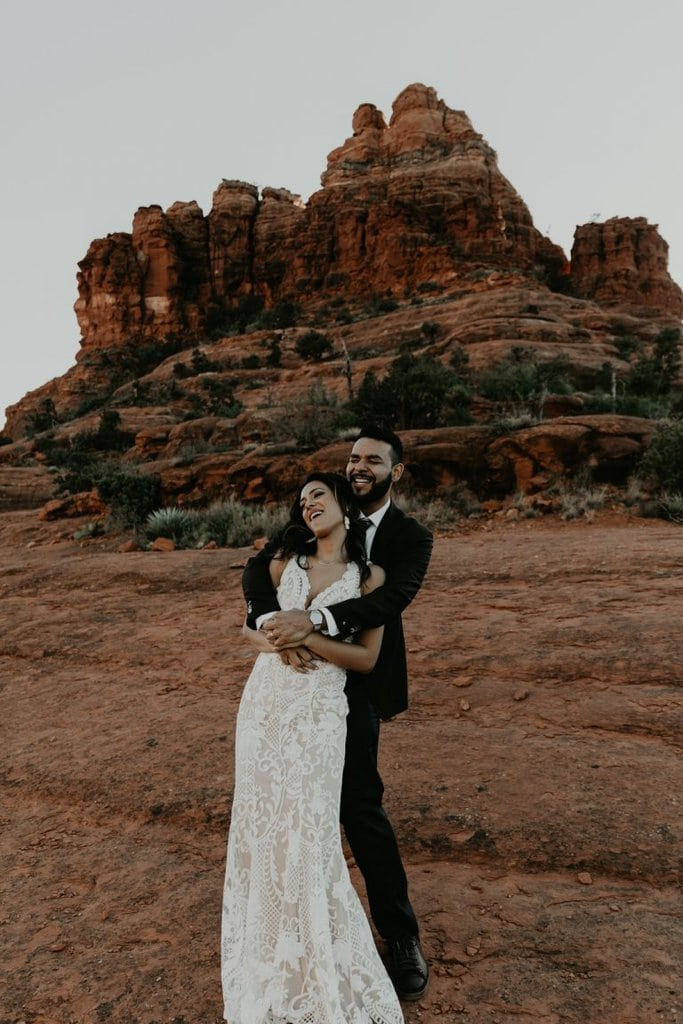 bell rock sedona arizona adventure elopement wedding