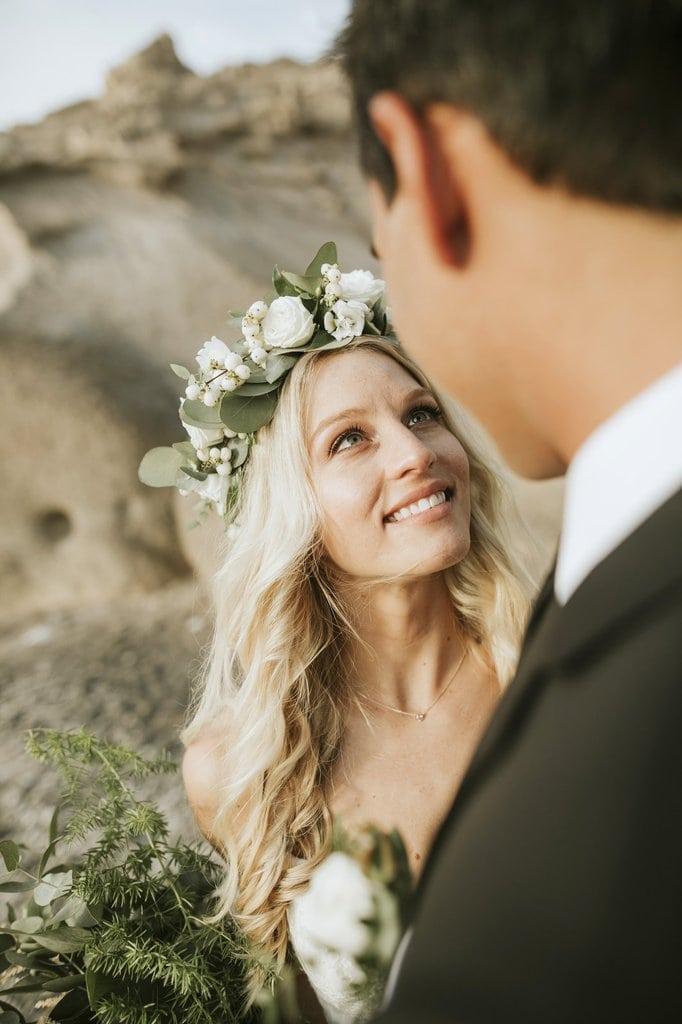 santorini island greece sunset elopement wedding