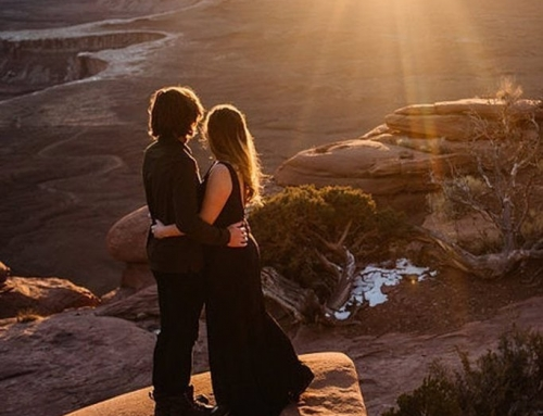Stunning Sunset Engagement Session at Canyonlands National Park, Moab, Utah