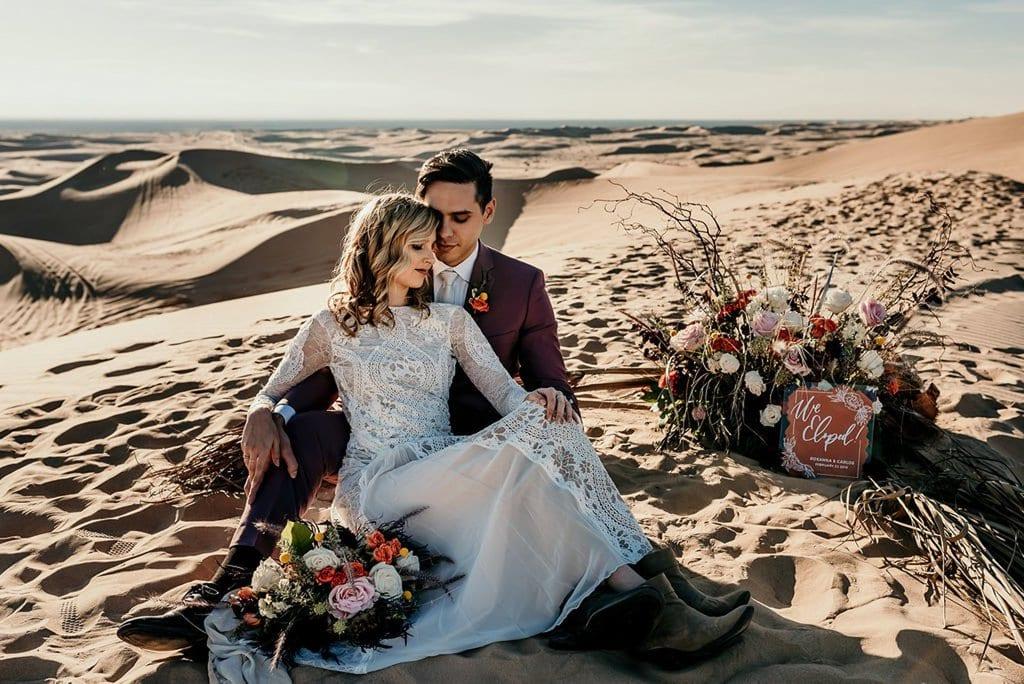 California elopement sand dunes