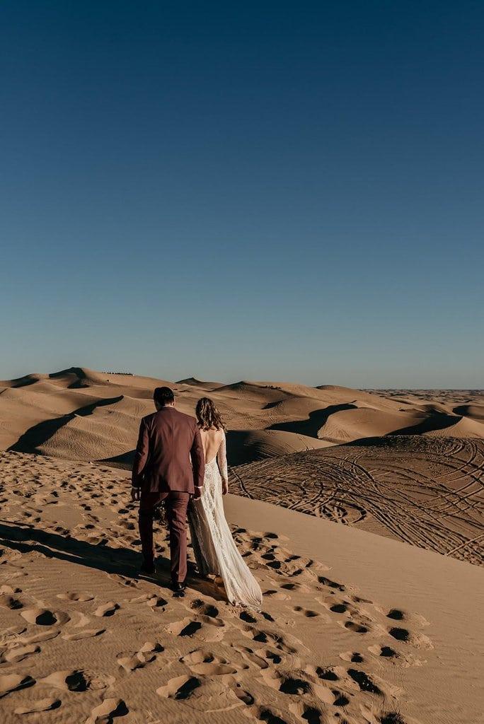 bohemian elopement sand dunes