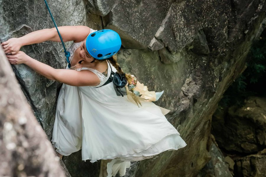 Rock Climbing Elopement Photographer in the Southeast and West
