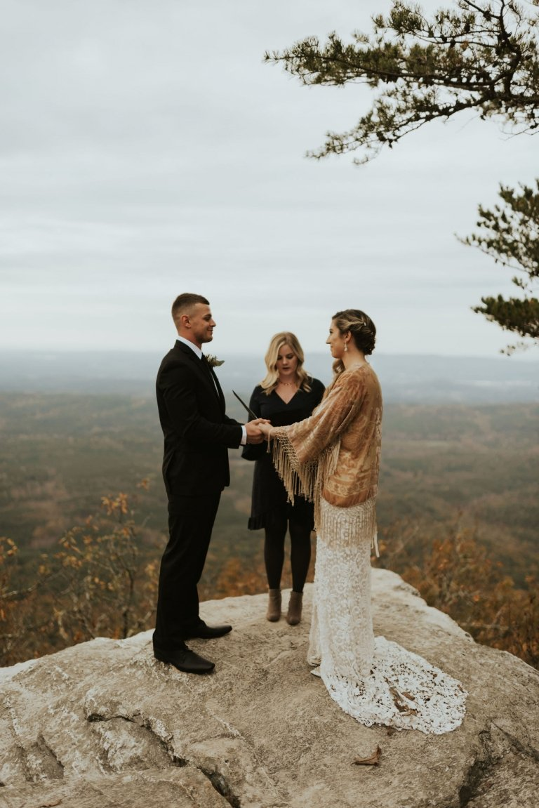 alabama bald rock elopement wedding cheaha state park