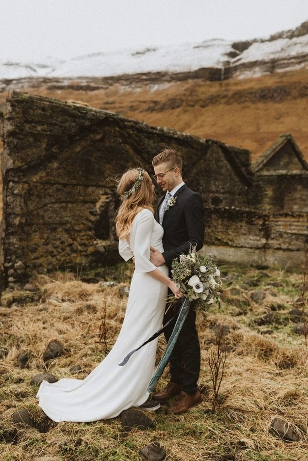 Intimate Snaefellsnes Peninsula Wedding in Budir, Iceland
