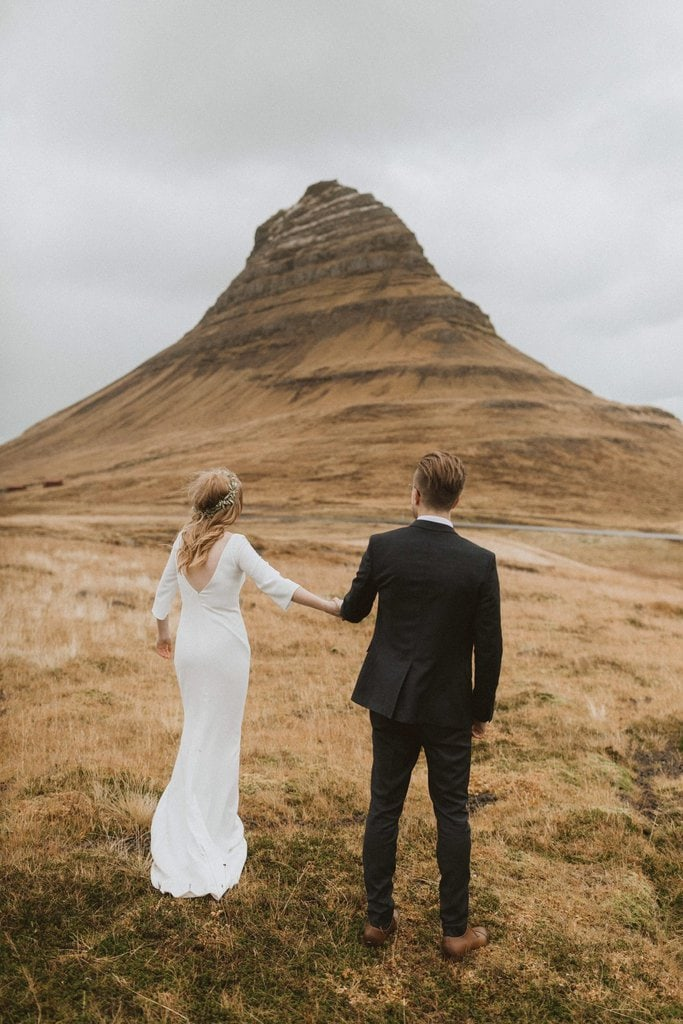 black church intimate elopement adventure wedding iceland