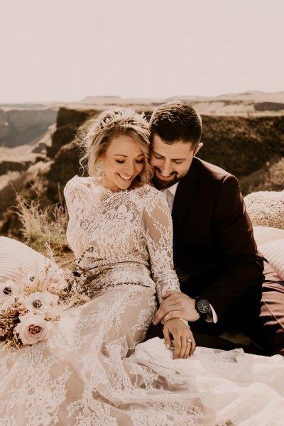 palouse falls state park washington pnw elopement boho wedding