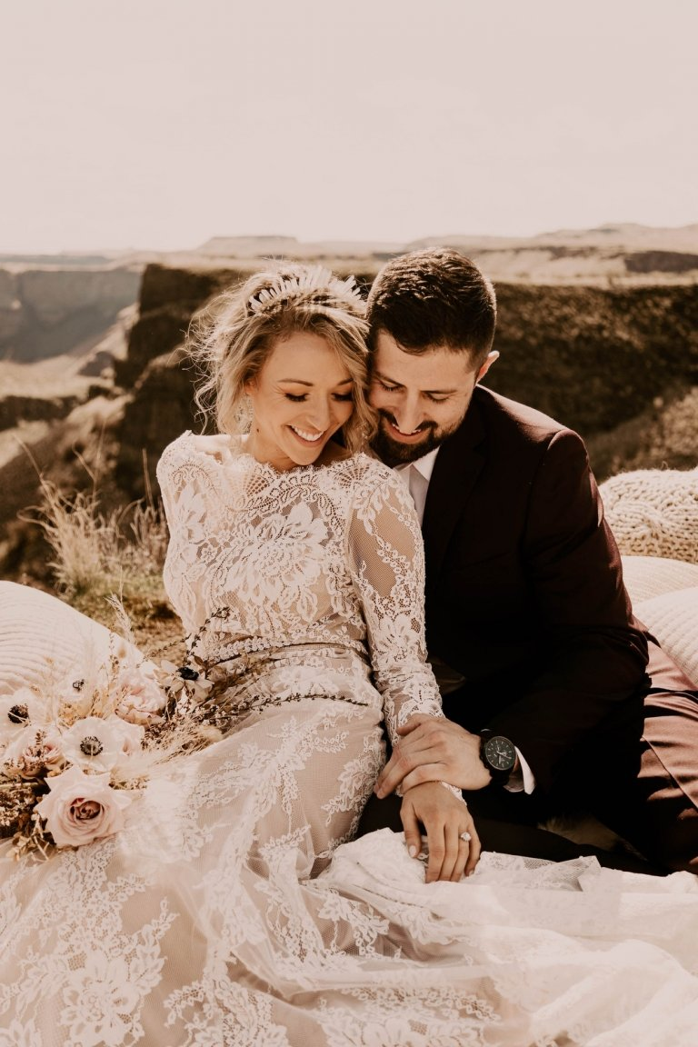palouse falls state park washington pnw elopement boho wedding