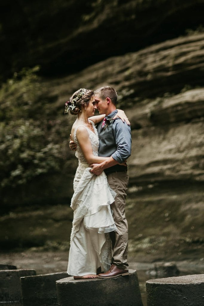 Bohemian, Glam Wedding at Starved Rock State Park, Illinois
