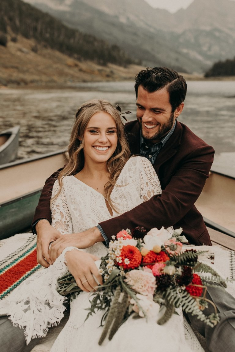 vail colorado boho mountain elopement adventure wedding