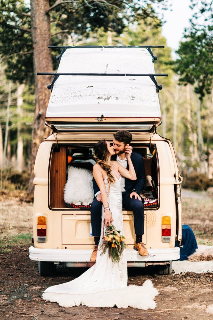 Campervan Mountain Elopement Inspiration in Nederland, Colorado