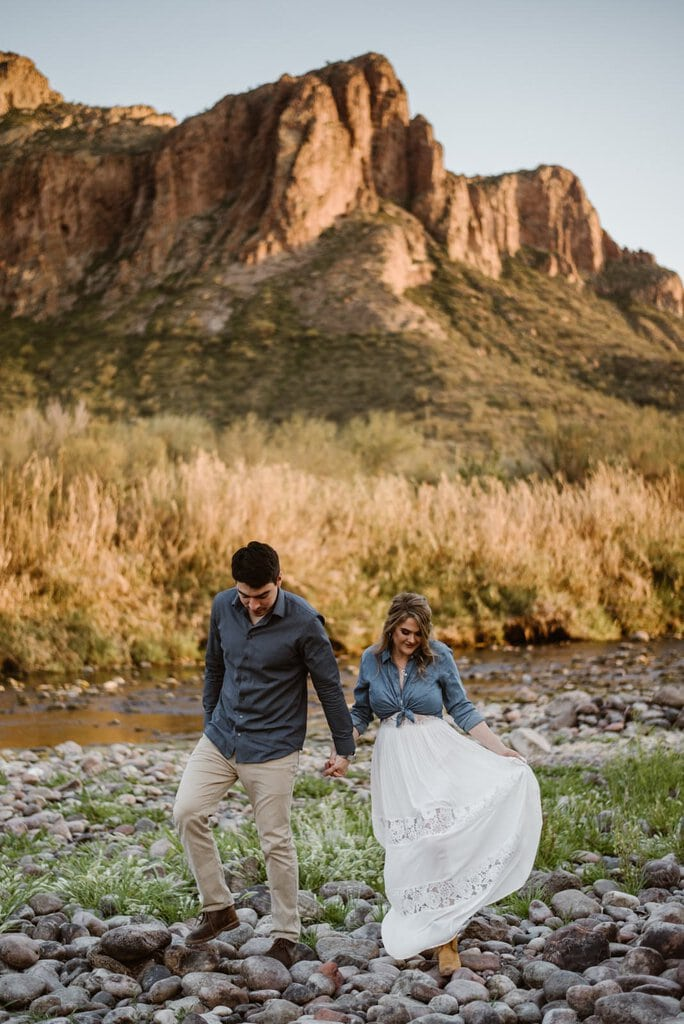 Adorable, Desert Engagement Session in Salt River, Arizona