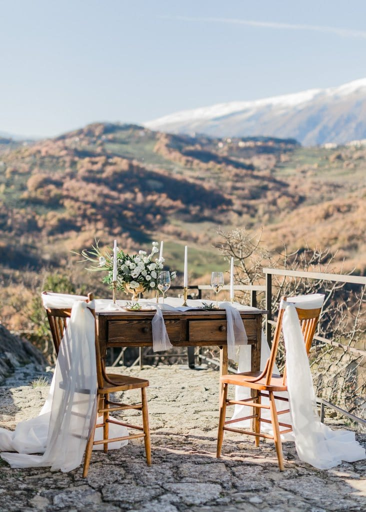 styled elopement session in Italy.