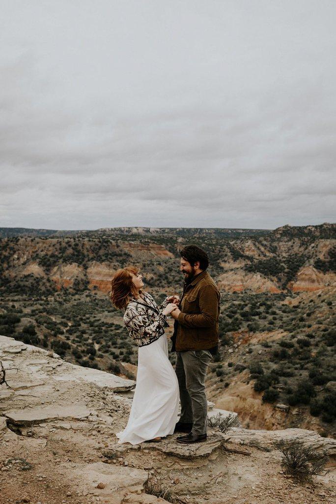 palo duro canyon elopement photography