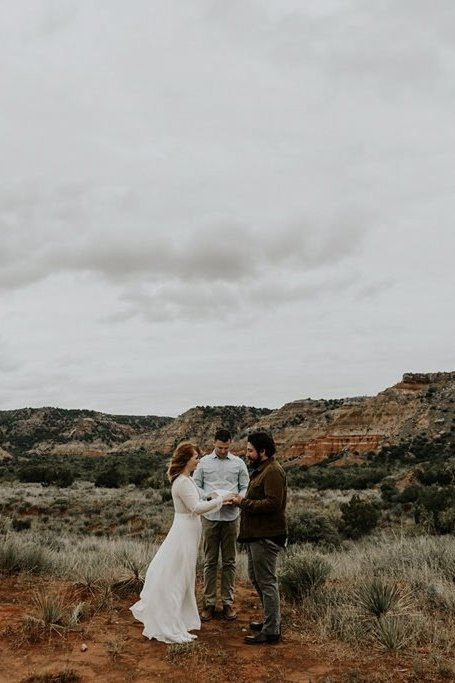 Emotional, Intimate Elopement at Palo Duro Canyon State Park in Canyon, Texas
