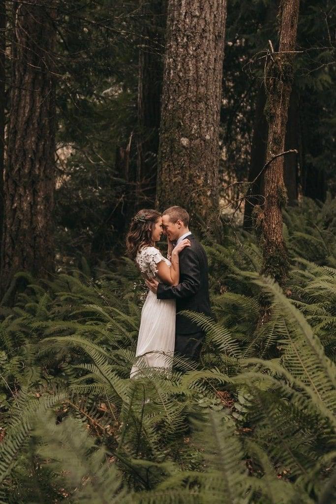 Woodsy Columbia River Gorge Wedding in Skamania, Washington