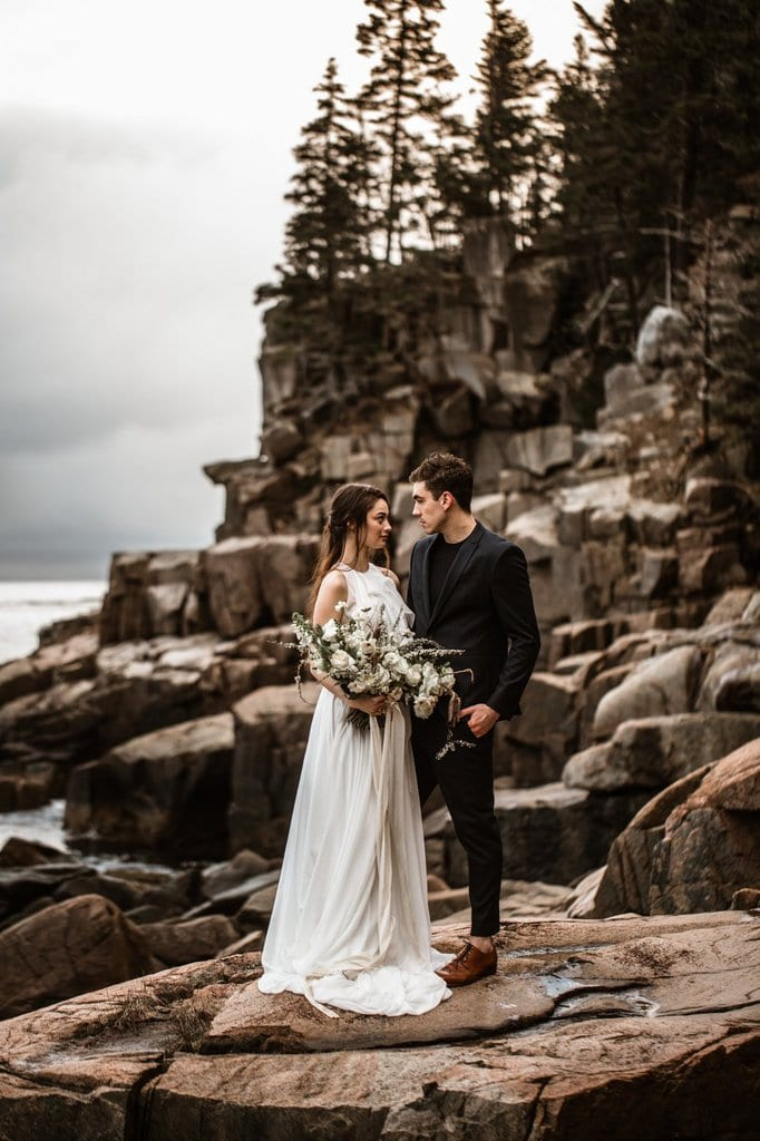 Acadia National Park Elopement Inspiration in Bar Harbor, Maine