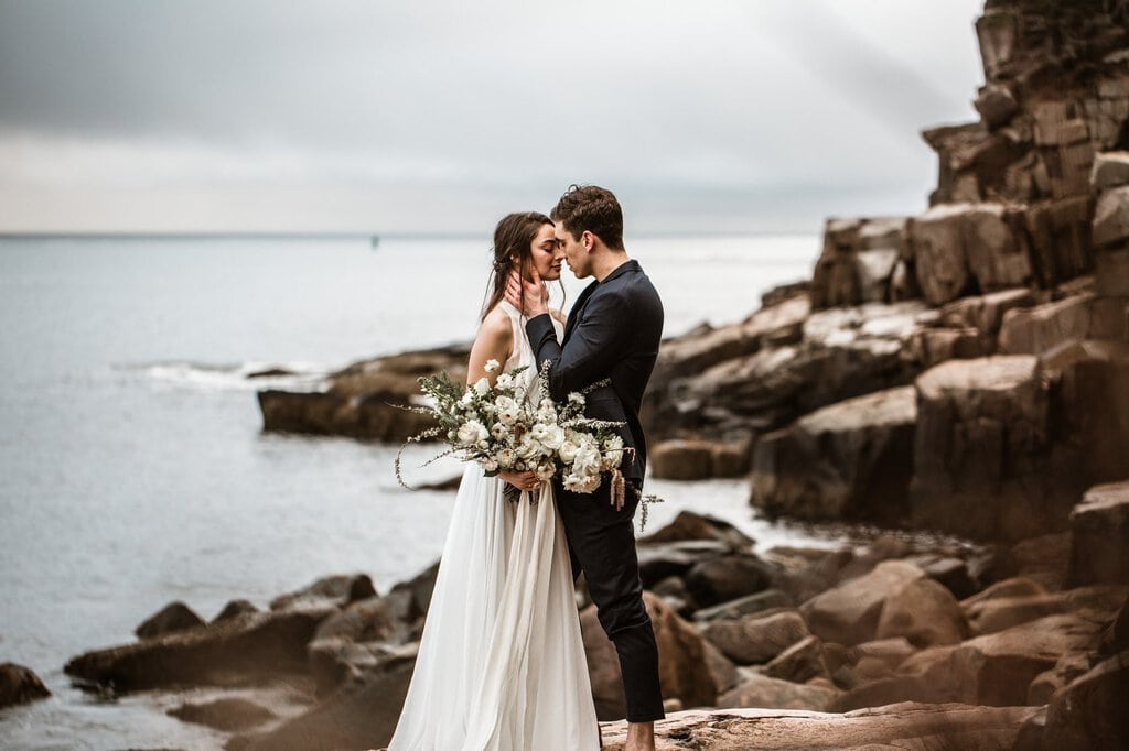 styled adventure elopement acadia national park maine